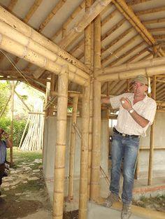 mengelem bambu