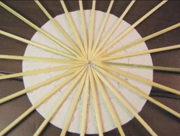 hiasan sun burst bambu