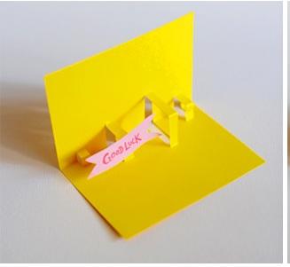 cara membuat kartu pop up 2