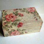 decoupage pada kotak kayu