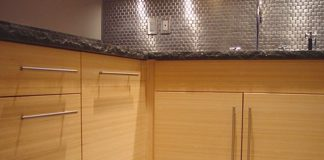 kabinet dapur bambu
