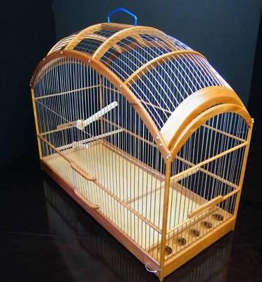 kandang burung dari kayu