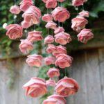 kerajinan kertas gantung mawar