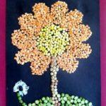 kolase biji bunga