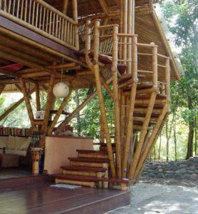 konstruksi bambu untuk bangunan