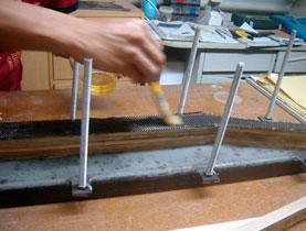 proses laminasi bambu
