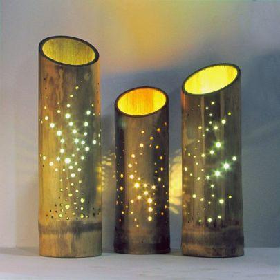 lampu bambu tabung