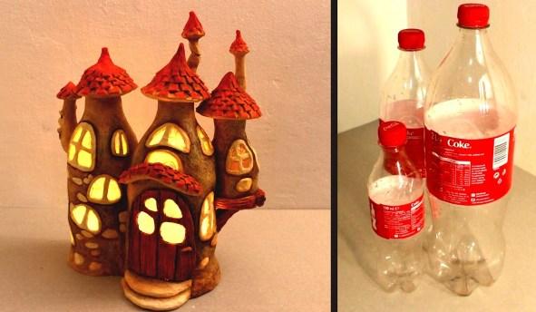 lampu dengan botol plastik