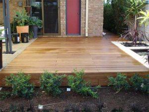 lantai bambu luar
