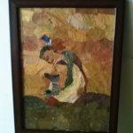 lukisan daun kering (2)
