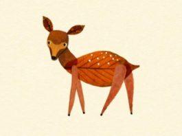 lukisan hewan daun kering