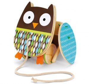 mainan burung hantu kayu