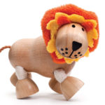 mainan kayu singa