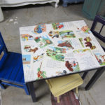 meja anak decoupage