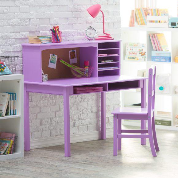 meja belajar ungu