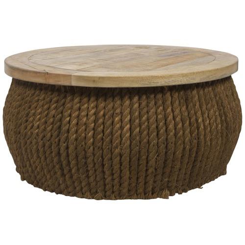 meja sofa dengan serat alam