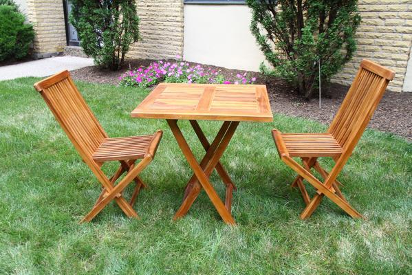 meja lipat taman