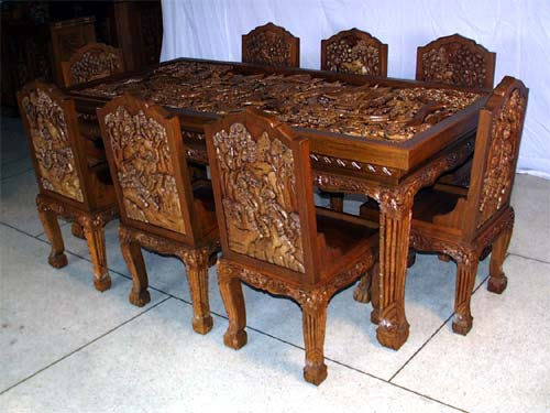 meja makan jati tradisional