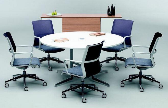 meja rapat bundar kecil