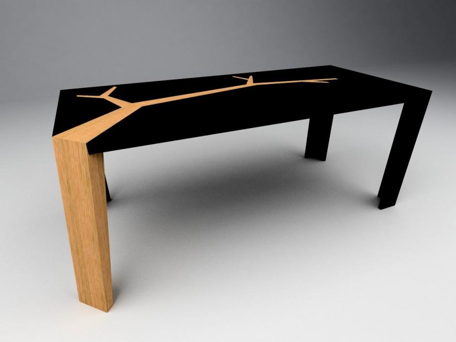 meja ruang tamu gaya modern