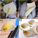 membuat bunga lily kertas