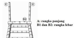 membuat rangka panjang dan lebar bambu