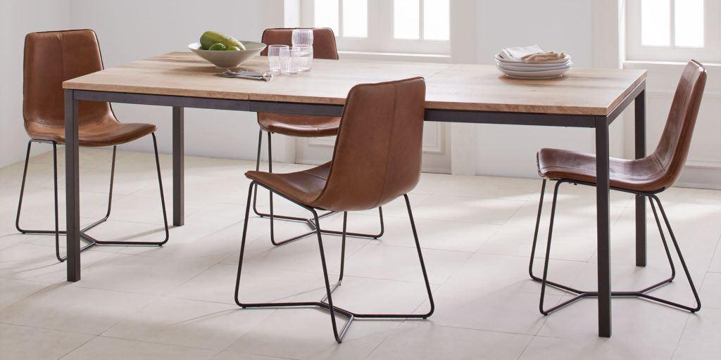 model meja makan minimalis natural