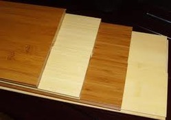 papan bambu dibuat dengan lem untuk laminasi bambu
