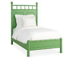 ranjang bambu warna hijau