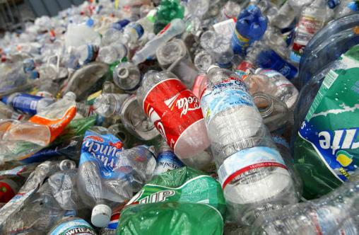 sampah botol plastik