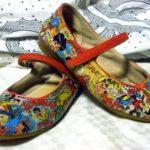 sepatu decoupage