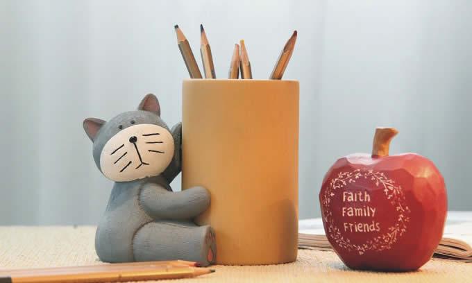 tempat pensil bambu