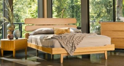 tempat tidur bambu desain manis