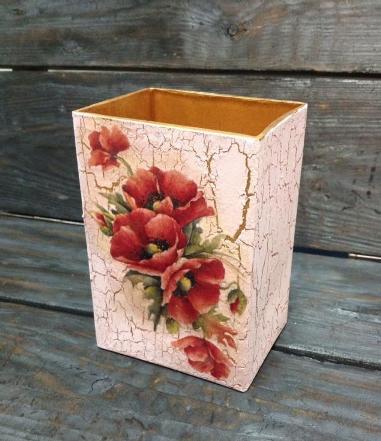 vas bunga decoupage